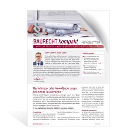 Newsletter Baurecht kompakt
