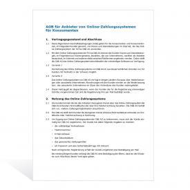 AGB für Anbieter von Online-Zahlungssystemen