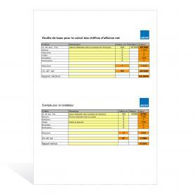 Aide de calcul Calcul des chiffres d'affaires net