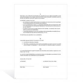 Assemblée générale (SA) procès-verbal prononçant la dissolution et la liquidation