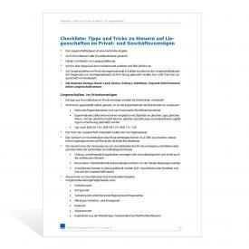 Checkliste Tipps und Tricks Liegenschaftssteuern