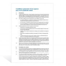 Modèle Conditions générales (agence de publicité en ligne)