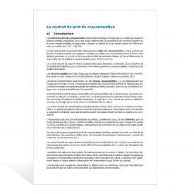 Contrat de prêt de consommation
