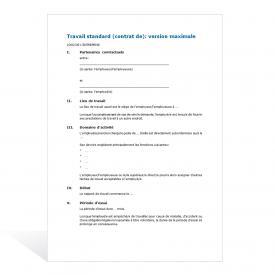 Contrat de travail Standard