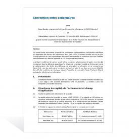 Convention entre actionnaires