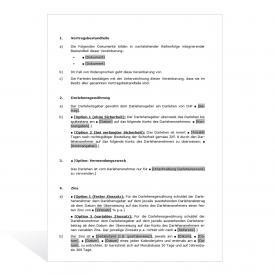 Darlehensvertrag - Basismuster