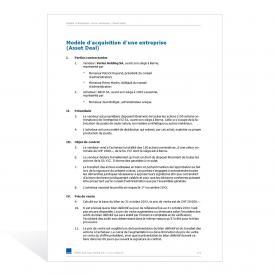Modèle d'acquisition d'une entreprise (Asset Deal)
