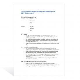 Muster IT-Dienstleistungsvertrag