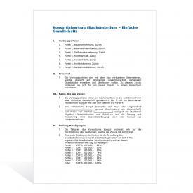 Mustervertrag Baukonsortium