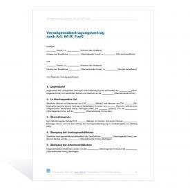 Mustervertrag Vermögensübertragung (Asset Deal)