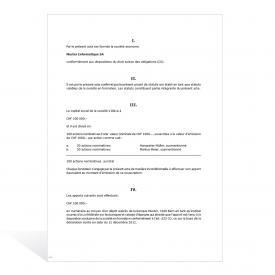 Procès-verbal Assemblée générale (création d'une SA)