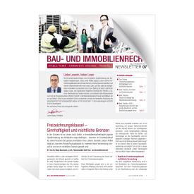 Newsletter Bau- und Immobilienrecht