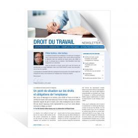 Newsletter Droit du travail