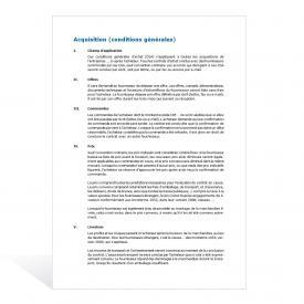 Modèle Conditions générales d'acquisition