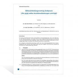 Muster Aktionärbindungsvertrag Arztpraxis - Variante 2
