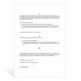 Assemblée générale (SARL) procès-verbal prononçant la dissolution et la liquidation