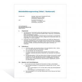 Muster Betriebsführungsvertrag