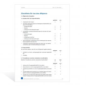 Checkliste Tax Due Diligence