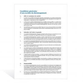 Modèle Conditions générales (société de déménagement)