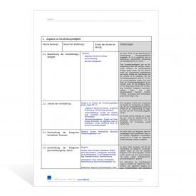 Datenverarbeitungsverzeichnis nach DSGVO