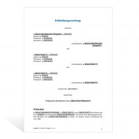 Muster Erbteilungsvertrag