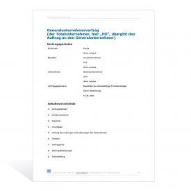 Muster Generalunternehmervertrag