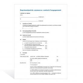 Contrat de travail représentant de commerce