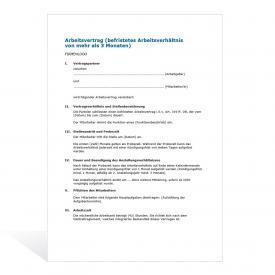 Arbeitsvertrage Muster Vorlagen Kostenlos 4