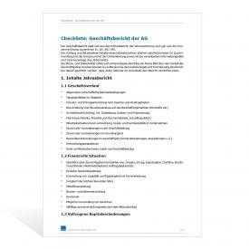Muster Inhalt Geschäftsbericht