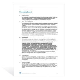 Vorlage Personalreglement