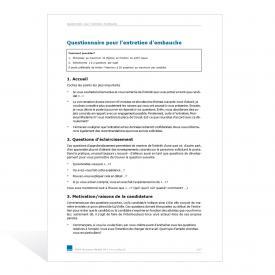 Modèle Questionnaire pour l'entretien d'embauche
