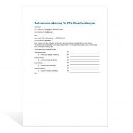 Muster Rahmenvereinbarung für EDV-Dienstleistungen