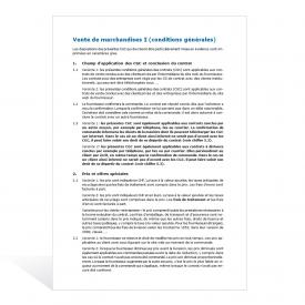 Modèle conditions générales de vente I