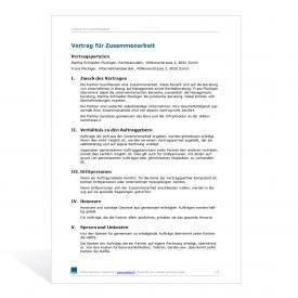 Muster Zusammenarbeitsvertrag (Beratung)