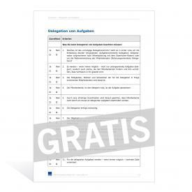 Vorlage Zielvereinbarung und Zielauswertung