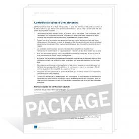 Téléchargement package Certificats de travail différents cas