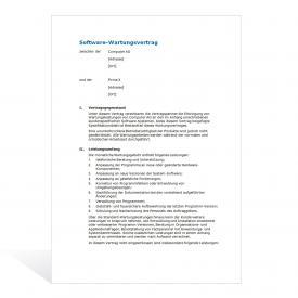 Muster Software-Wartungsvertrag