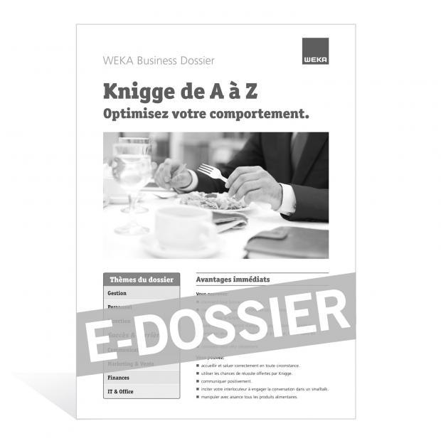 E-Dossier Knigge de A à Z