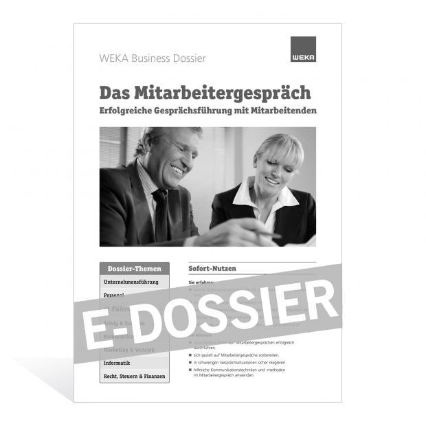 E-Dossier Das Mitarbeitergespräch