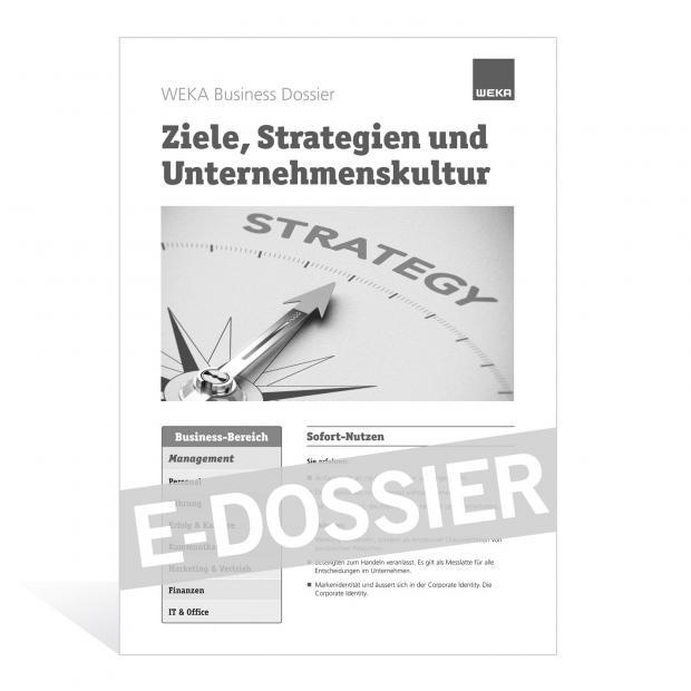 E-Dossier Ziele, Strategien und Unternehmenskultur