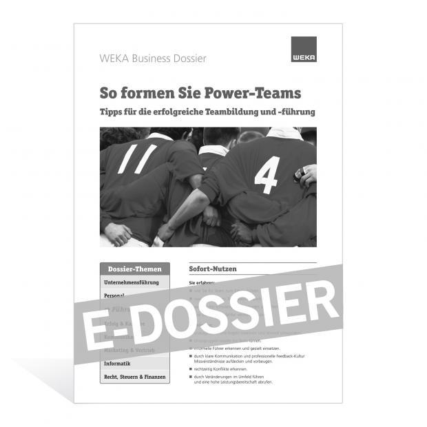 E-Dossier So formen Sie Power-Teams