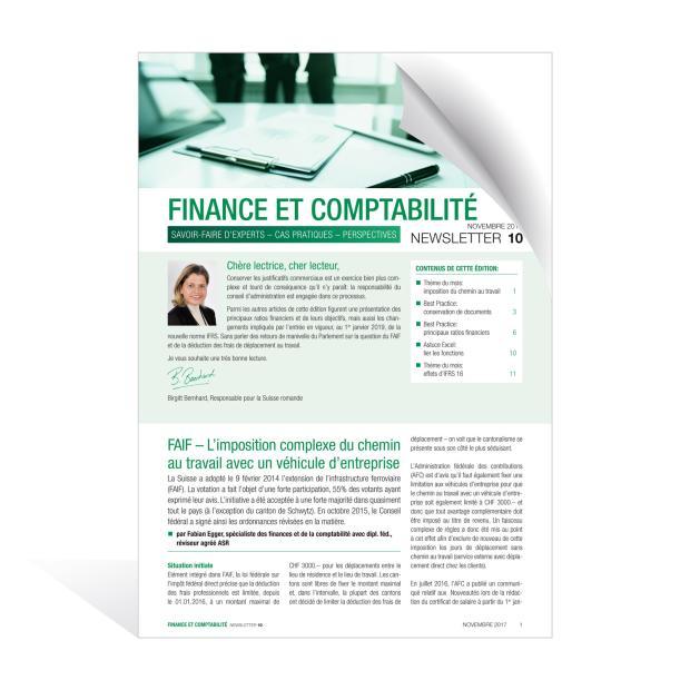 Newsletter Finance et Comptabilité