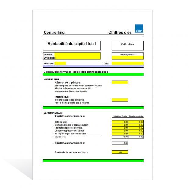Aide de calcul Rentabilité du capital total