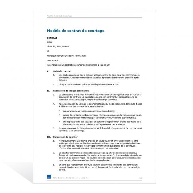 Contrat de courtage (général)