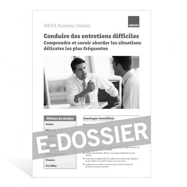 E-Dossier Conduire des entretiens difficiles