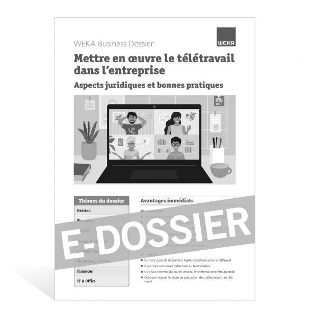 E-Dossier Mettre en œuvre le télétravail dans l'entreprise