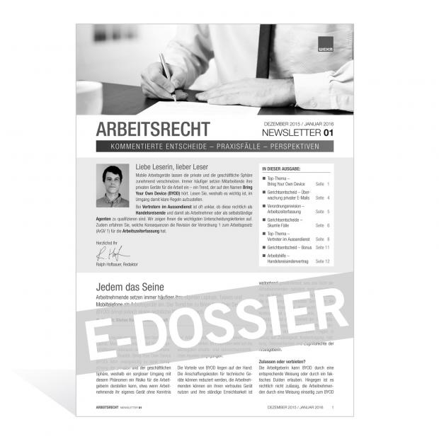 E-Dossier Arbeitsrecht: Bring Your Own Device