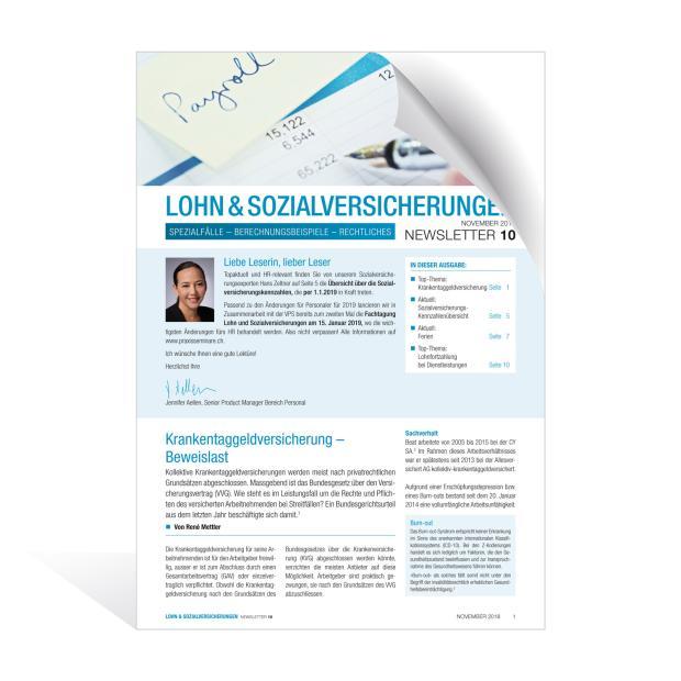 Newsletter Lohn und Sozialversicherungen