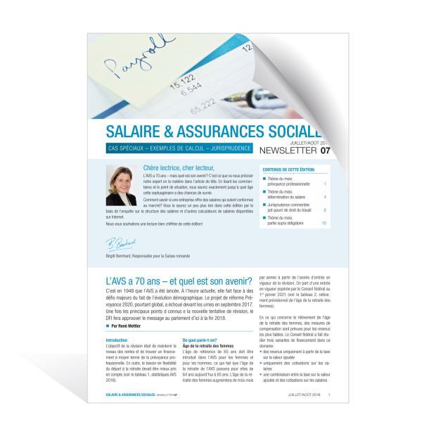 Newsletter Salaire & assurances sociales