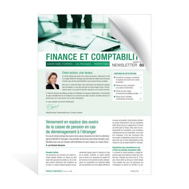 Newsletter Finance et Comptabilité